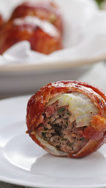 BBQ Onion Meatballs