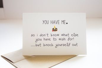 Funny Happy Birthday Cards For Boyfriend Him Sarcastic Husband