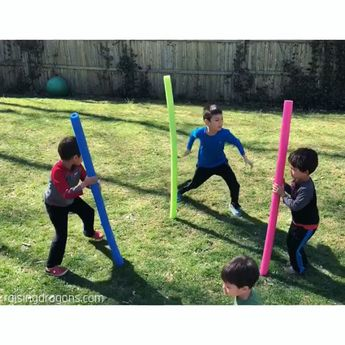 Standing Pool Noodle Game * ages 4