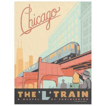 Chicago, IL - 'L' Train Fleece Blanket | Zazzle.com