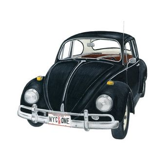 Volkswagen Beetle Drawing. My first car. Loved it!!!!