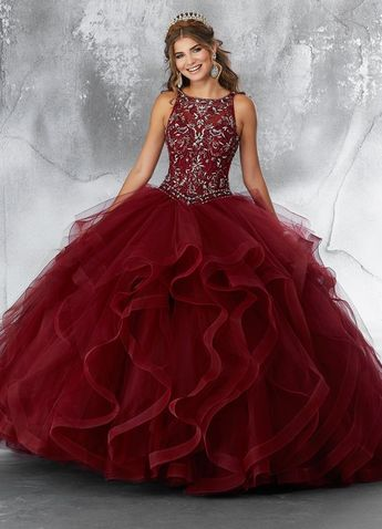 b3881e1fe40 Sleeveless Ruffled Quinceanera Dress by Mori Lee Vizcaya 89194