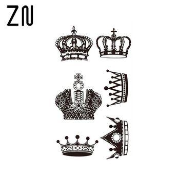 $1.09 - Waterproof Mini Crown Tattoo Tattoo Crown Tattoo #ebay #Fashion