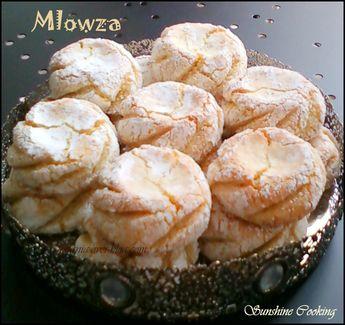 Mlowza / Gateaux d'amandes moelleux au zeste de citron / Gâteaux typiquement tetouanais