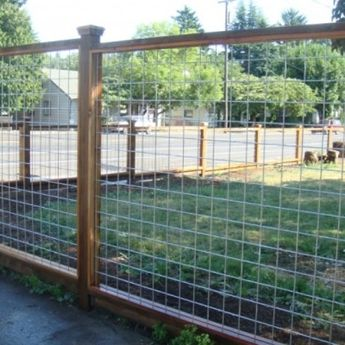 Wire fence for my backyard this is what I have been looking for. A fence you can see through and still looks nice.