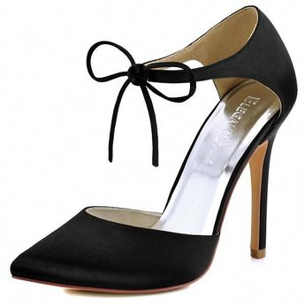 Elegantpark Women Heel Prom Evening Pumps Teal Ankle Strap Ribbon Tie #heelsoutfit