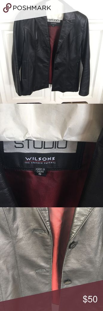 cbcb2a4f703c1 Wilsons leather black jacket In good condition. Gently used Wilsons Leather  Jackets   Coats