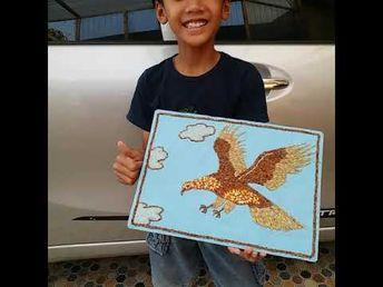 Gambar Sketsa Kolase Hewan Burung Hantu - Gambar Hewan