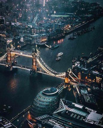 London City at night - England
