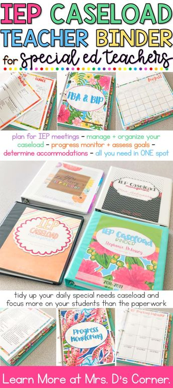 IEP Organization for Any Special Needs Teacher