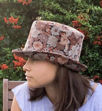 e530e25c3 Two Tone Beige Top Lazy Fedora with floppy brim in pure fel
