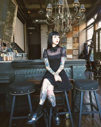 Le Chat Noir — Feeling very in my element at #StFelix Dress by...