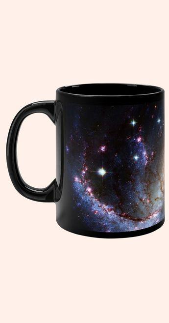 Galaxy Mug, Cosmos Coffee Cup, Cosmic Mug, Space Coffee Mug, Astronomy Mug, Outer space Mugs, Nebula Cup, Black Coffee Mug