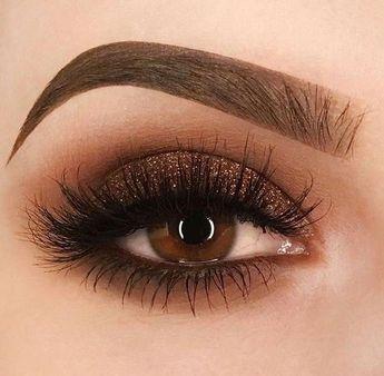 Brown Bronze Smokey Eyeshadow Augen Make-up #smokeyeyemakeupstepbystep