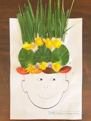 J'ai proposé cette activité afin de célébrer le printemps naissant. Mais elle peut être proposée tout au long de l'année car chaque saison offre ses couleurs et sa végétation colorée propre. Le principe est de proposer à l'enfant un support visuel (en...
