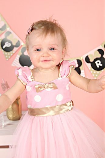 Pink And Gold Birthday Dress Minnie Mouse By Loverdoverscl