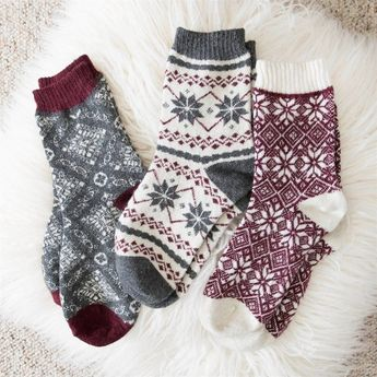 Women's 3 Pair Pack Holiday Boot Socks