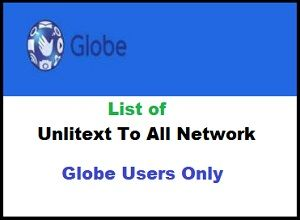Unlitext To All Network Globe - the promo with unli text to