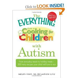 The Everything Guide to Cooking for Children with Autism: From everyday meals to holiday treats; how to prepare foods your child will love to eat (Everything (Parenting)). This is the best cookbook I have found so far. It actually has recepies my son will eat!