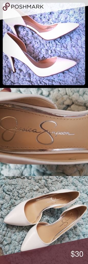 the best attitude 6332f fc23b Jessica Simpson High Heels! White! White High Heels!! Good Condition and in