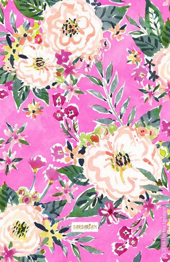 PRETTY MARCY Hot Pink Floral · BARBARIAN