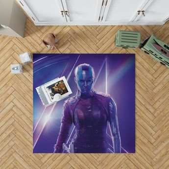 Karen Gillan Nebula Avengers Bedroom Living Room Floor Carpet Rug