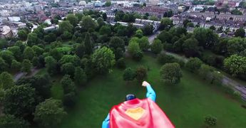 Superman Toy Taped To Flying Drone Is Better Than Superman Movie