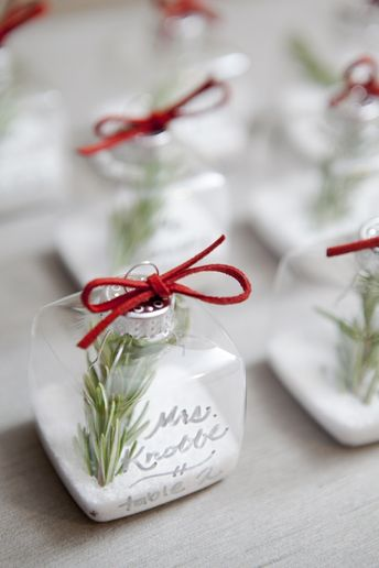 DIY // ornament place cards from SomethingTurquoise