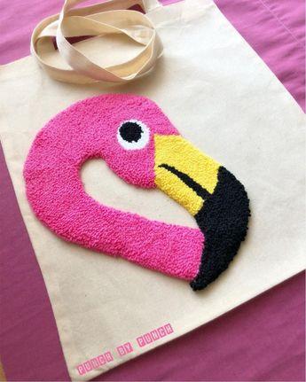 Flamingo punchneedle #knitting #knitting #basics