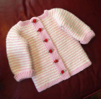 f8015ba9b730 Ravelry  Sheep Yoke Baby Cardigan by Jennifer Little
