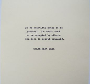 Thich Nhat Hanh Quote Typed on Typewriter