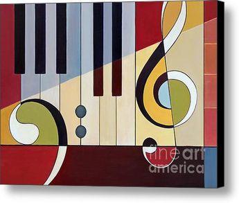 Piano Forte- Mezzo Forte Canvas Print