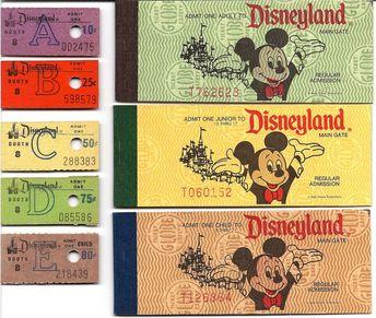 Vintage Disneyland Tickets: Decades of Disneyland Tickets - Part 2 #Disneyland
