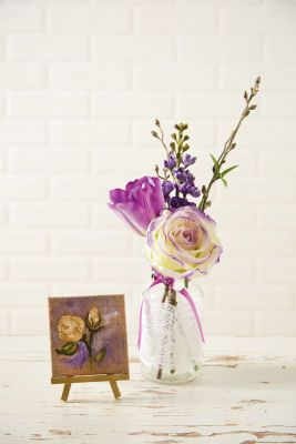 Radiant Orchid Floral & Lace Apothecary Jar