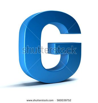G Letter Icon. 3D Render Illustration