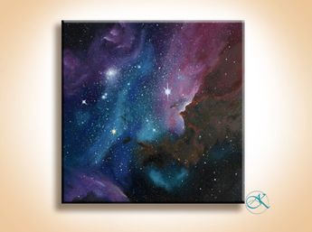 Oil Painting - Space Art - Galaxy - Nebula Painting - Paintings on Canvas - Wall Art - Original Painting - Inspirational - Large Art