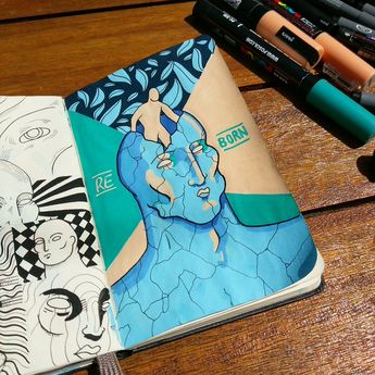 Trippy Doodles That Move in Mysterious Ways   Doodlers Anonymous  Thomas D'Addario