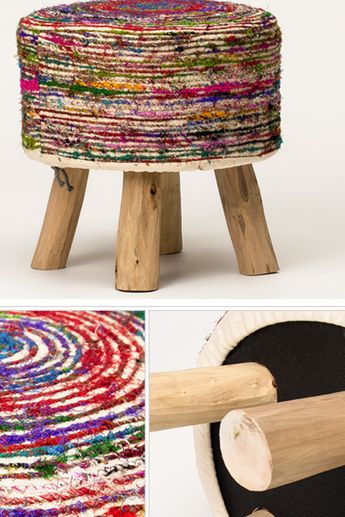 Indian style collection of the stool, footstool, chairs.