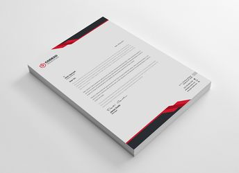 Samurai Professional Corporate Letterhead Template - Graphic Templates