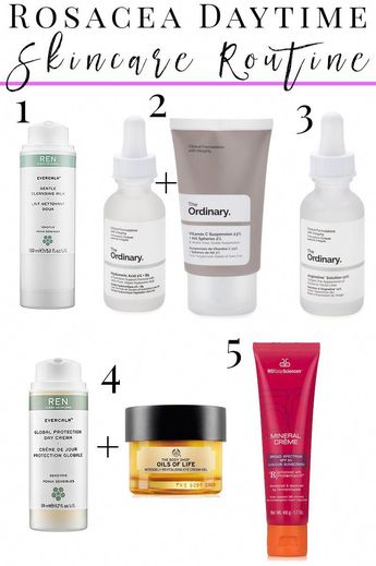 How to Create a Daytime Skincare Routine for Rosacea, Sensitive, Dry skin and anti-aging with the Ordinary skincare.