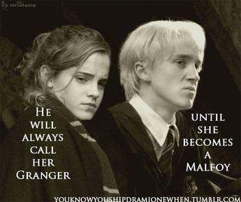 My favorite Dramione saying!
