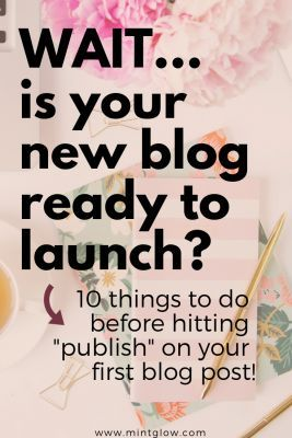 Congratulations on starting a new blog! From writing content and designing your website to setting up social media, there's a lot to do before launching your first blog post! Here's a to-do list so you don't forget any steps before launching your new blog! #startingablog #firstblogpost #buildingablog #wordpressblog