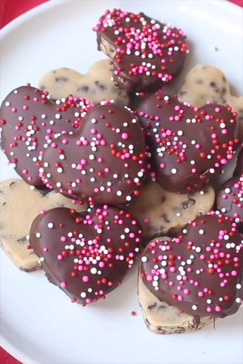 Chocolate Chip Cookie Dough Hearts (with Video)