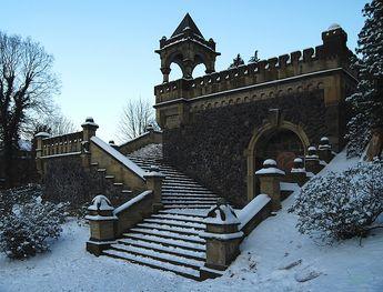 Dicke-Ibach-Treppe in den Barmer Anlagen