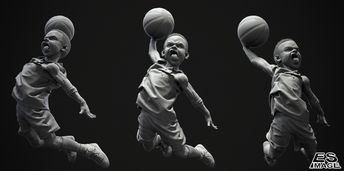 Dunk by Jay Han using Zbrush and Keyshot.