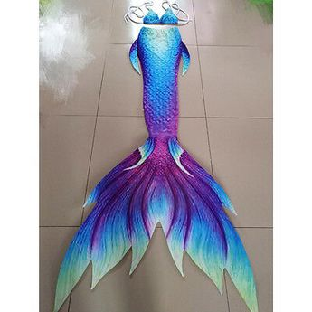 Details about 2017 Kids Adult Mermaid Tail With Monofin Vacation Photo Props Cosplay Costume