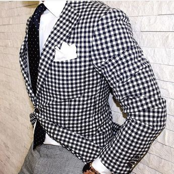 For the love of gingham    Inspiration for the @dappeguest via @ovesper  #GroomInspiration #DapperGuest #MensWear #MensFashion #Fashion #Style #SuitAndTie #Groom #WeddingGuest #MensWear #MensFashion #SuitAndTie #Bespoke