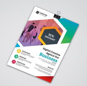 Education Business Flyer Design - Graphic Templates