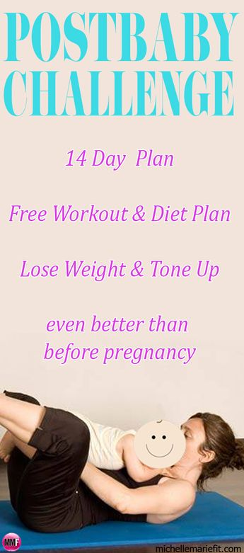 14 Day Workout Plan For Losing BABY WEIGHT Home workouts, no gym needed.  Short