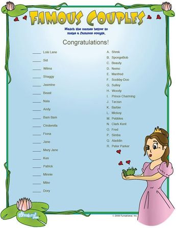 famous couples bridal shower game bridal shower trivia game cards
